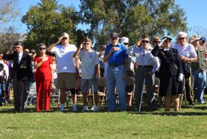 A Veteran's Day ceremony is held every November in Wheeler Park. Jillian Danielson/RiverScene