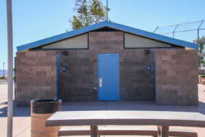 Dick Samp Park restrooms. Rick Powell/RiverScene