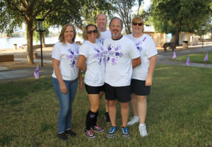 H.A.V.E.N. Resource Board members pose for a photo Sunday morning before the walk at Rotary Park. Jillian Danielson/RiverScene