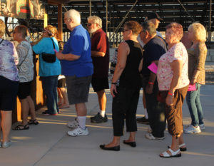 People stand in line at the Mudshark Brewery booth Tuesday evening during Taste of Havasu. Jillian Danielson/RiverScene