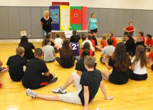 Representatives from Mile Markers speak to Thunderbolt 8th grade students during Career Day. Jillian Danielson/RiverScene