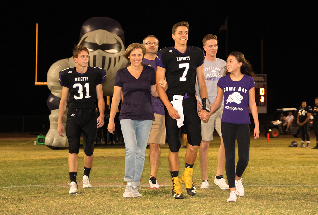 LHHS Senior Knights Suit Up For Final Game Friday