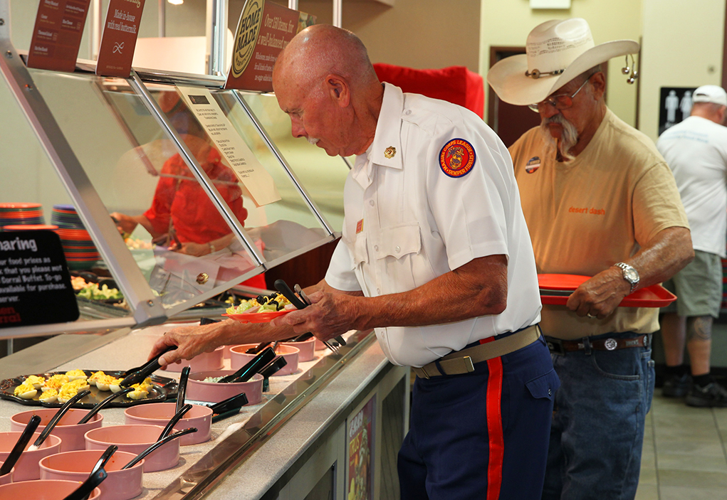 Veterans Treated To A Free Dinner at Golden Corral Monday