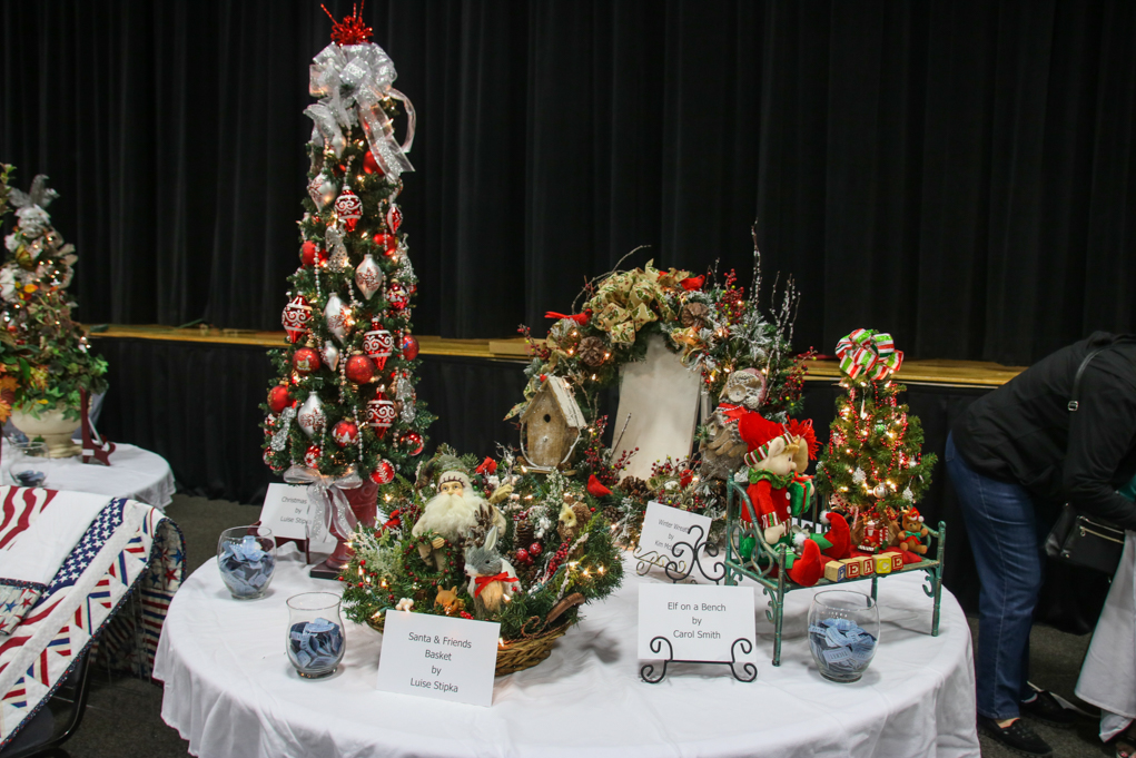 Western Welcome raffle prizes at Holiday Boutique. Rick Powell/RiverScene