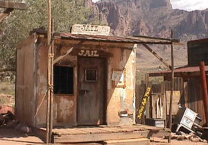 Goldfield Jail. photo courtesy Goldfield Ghost Town.