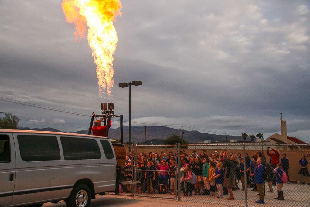 Balloons Visit Havasu Schools