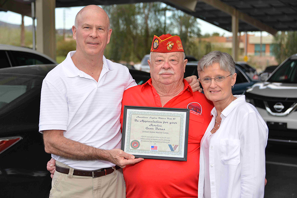 Local Veteran Honored For 25 Years As Color Guard Captain