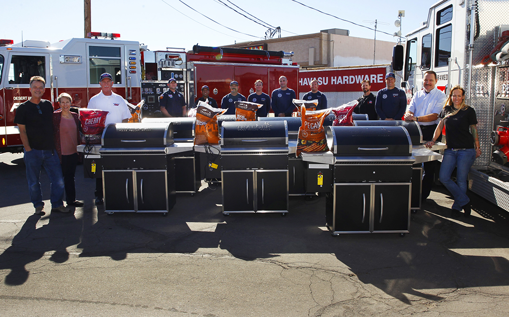 Havasu Hardware Teams With Traeger Pellet Grill To Honor Firefighters