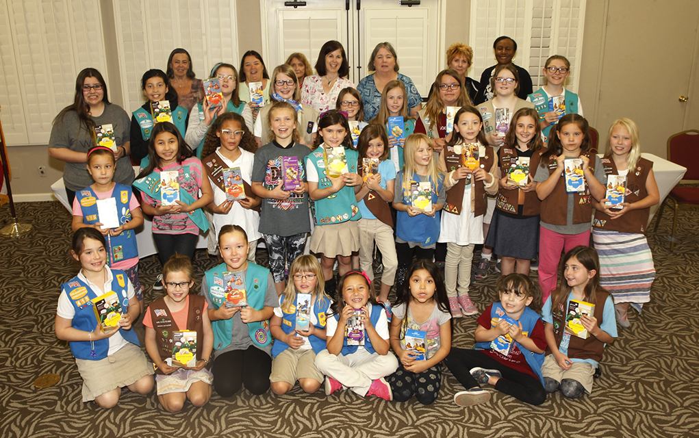 Havasu Girl Scouts Donate Cookies