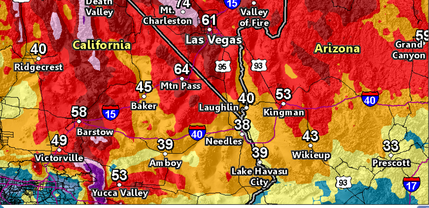 Widespread Strong Winds Sunday