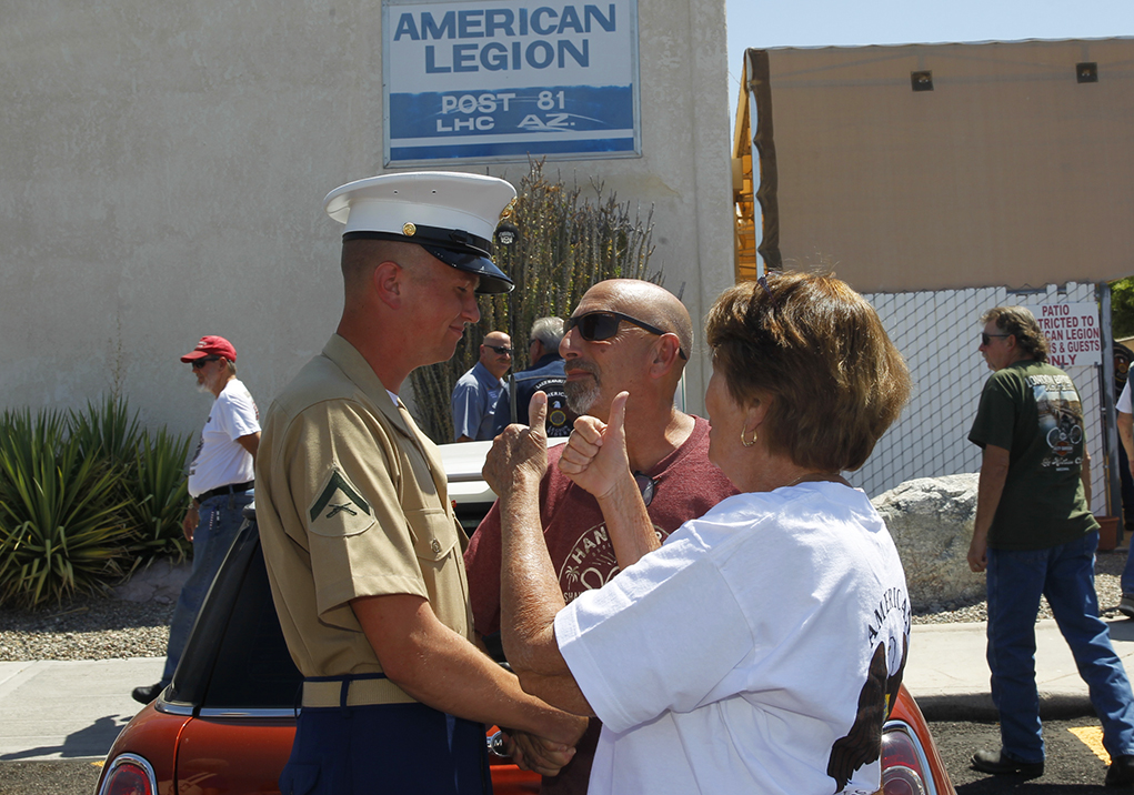 Lance Corporal Darren Kuenzli Gets a Lake Havasu Send Off Before Deploying Overseas