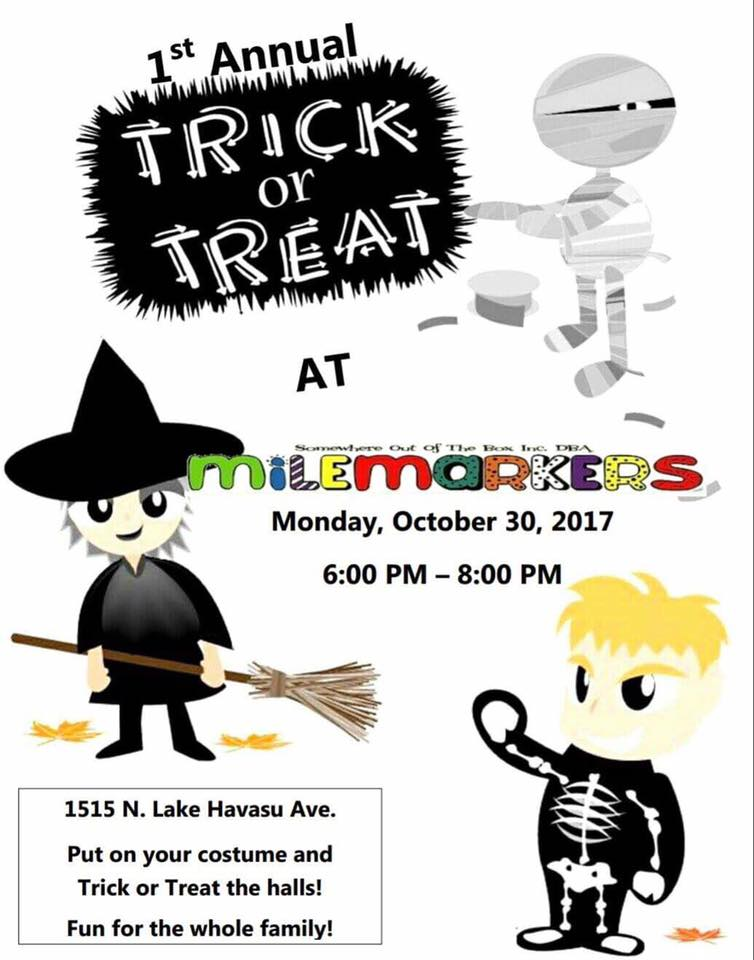 Trick or Treat at Milemarkers