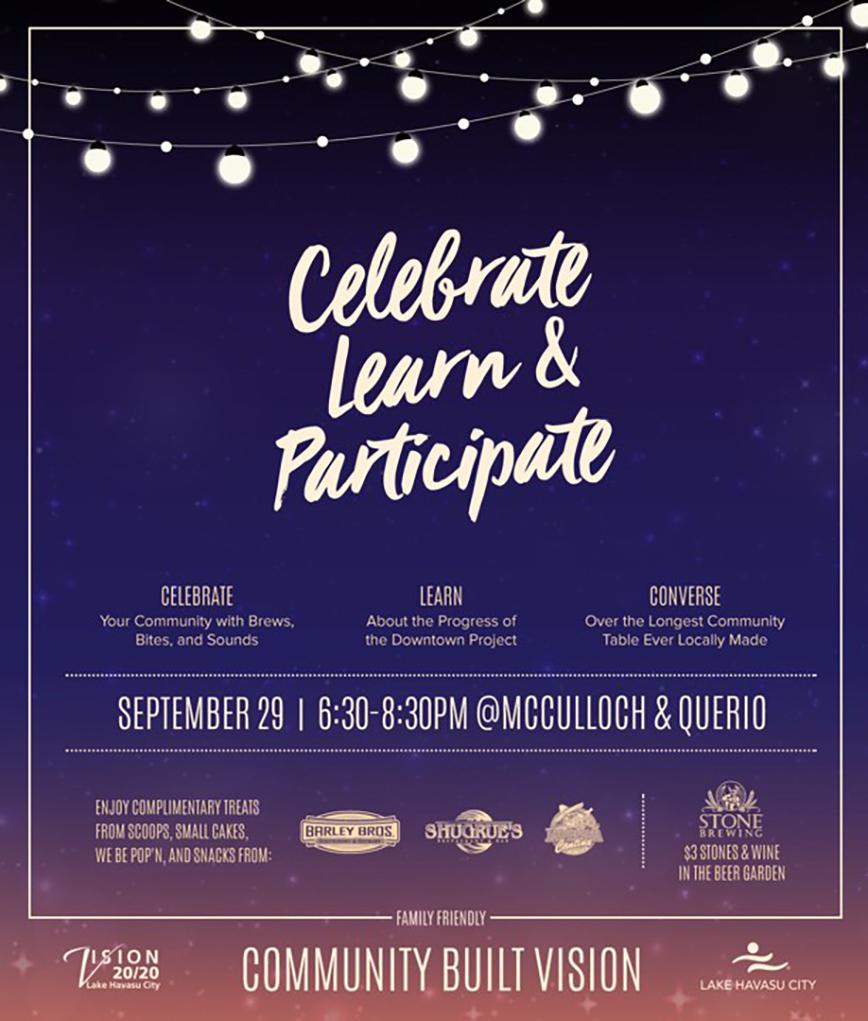 Havasu Vision 20/20 Presents: Celebrate, Learn, and Participate