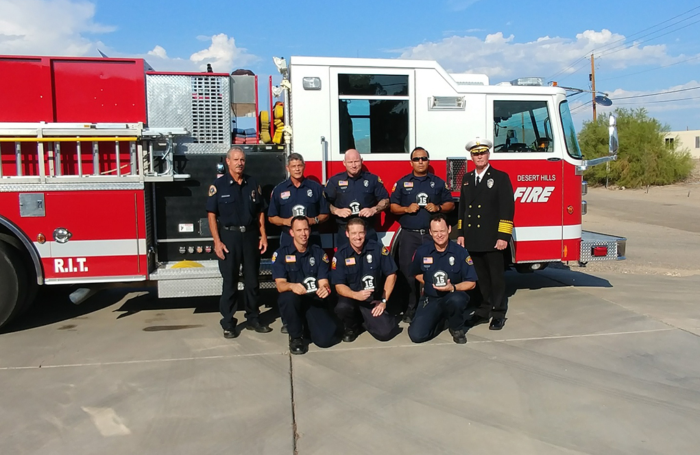 Desert Hills Firefighters Promoted