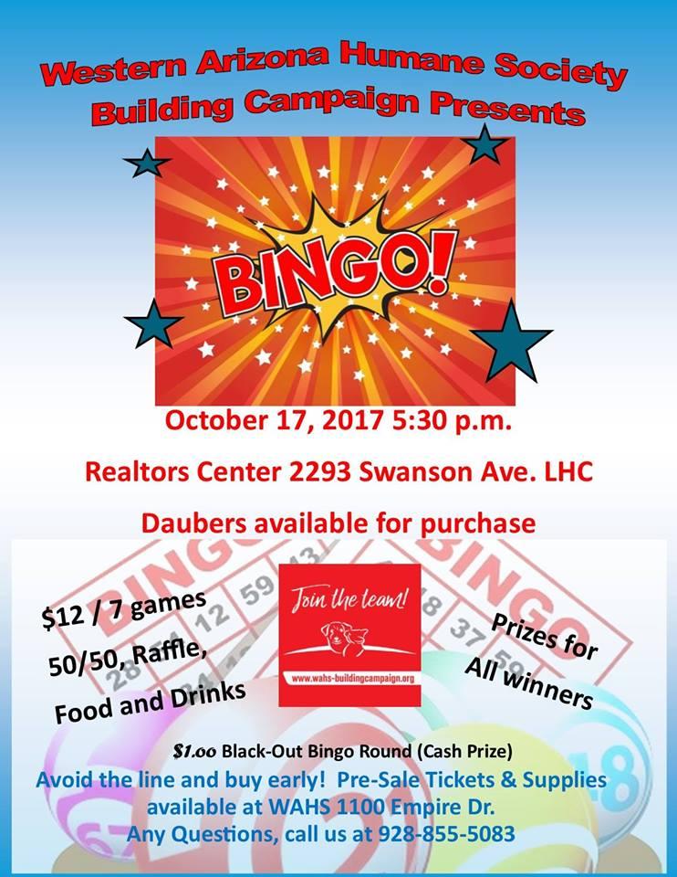 WAHS Building Fund Bingo Night