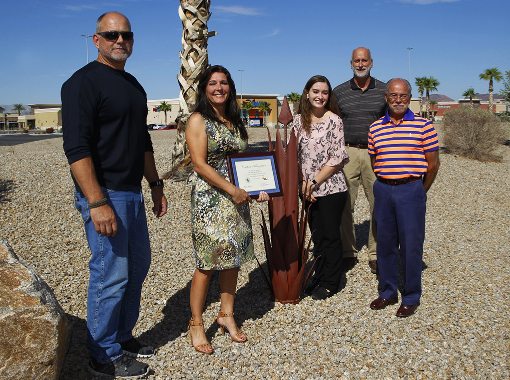 Lake Havasu City's Water Resources Department Awards The Shops With Certificate