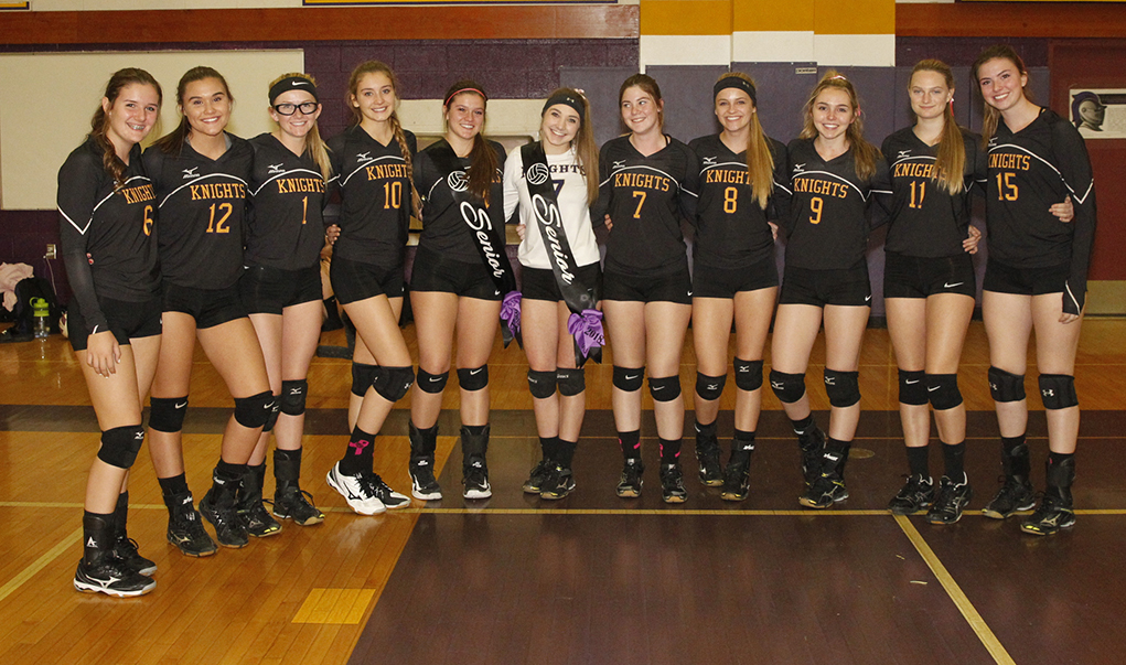 Lady Knights Celebrate Senior Night