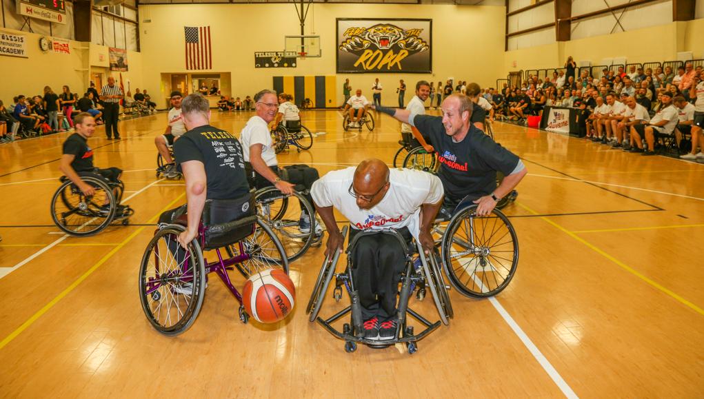 Telesis Hosts Wheelchair Basketball Game