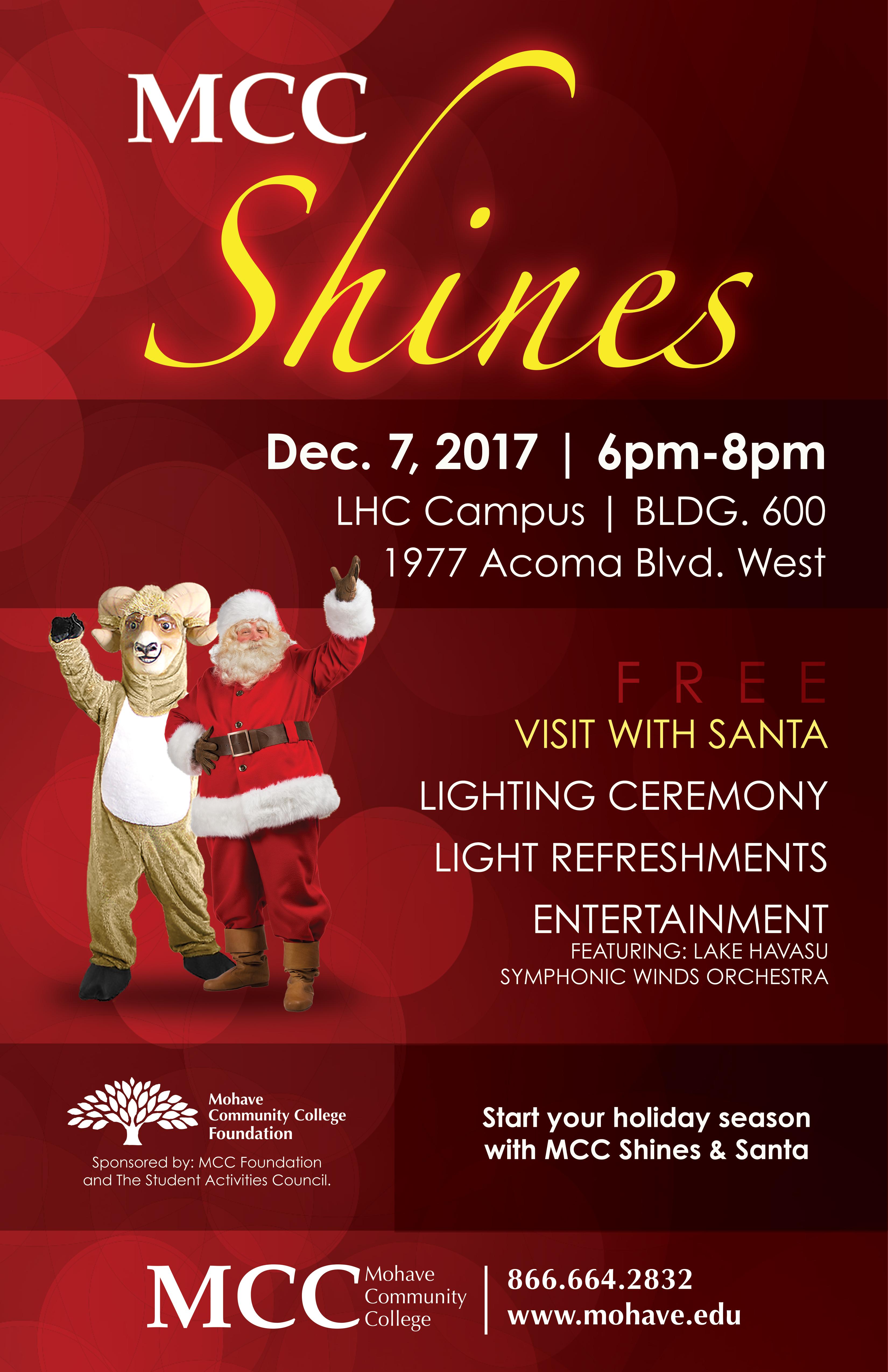MCC Shines Lighting Ceremony