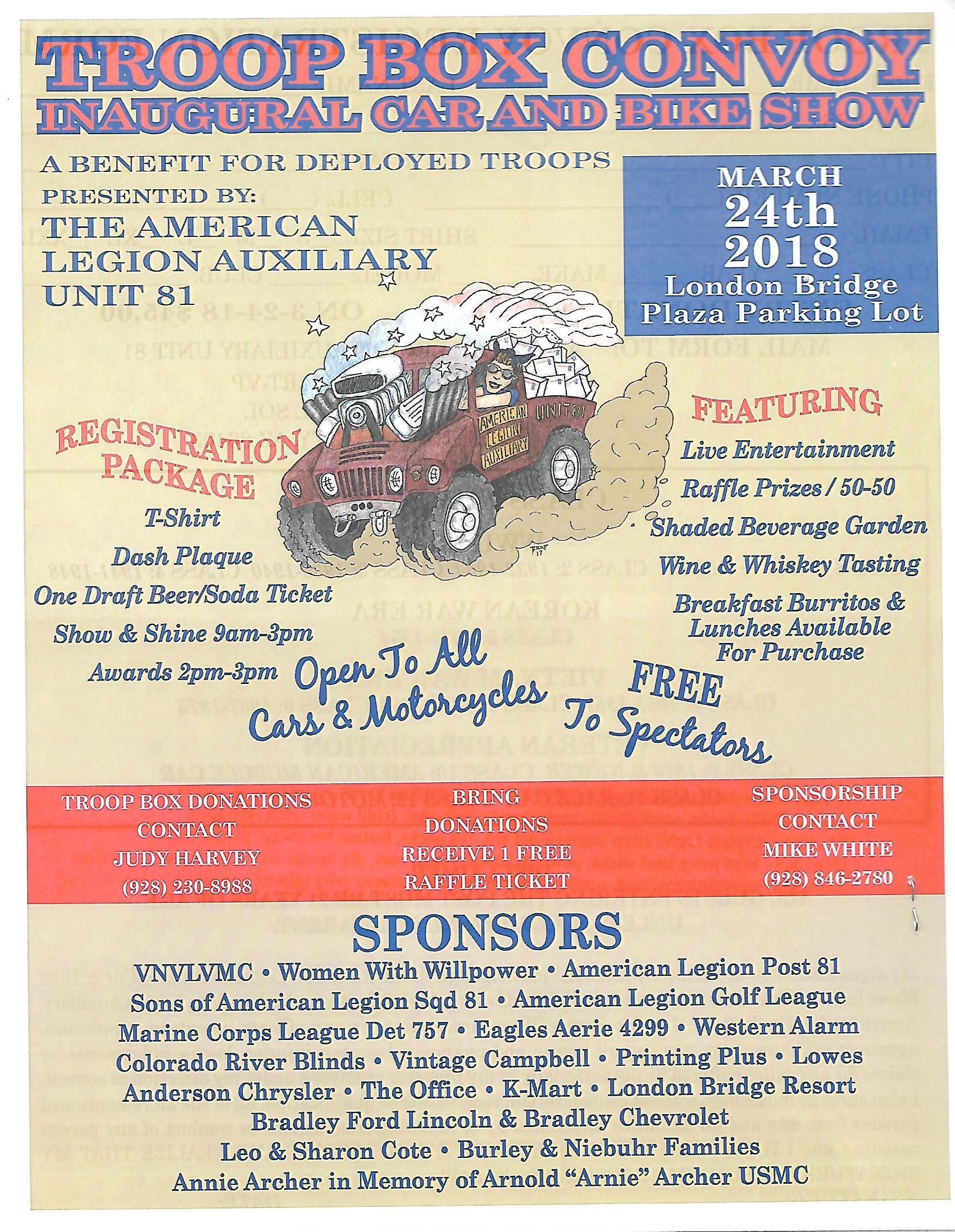 Troop Box Convoy Inaugural Car And Bike Show