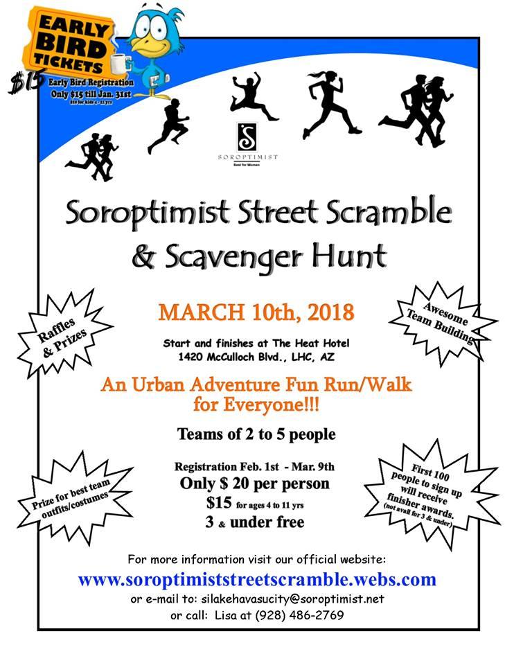 Soroptimist Street Scramble and Scavenger Hunt