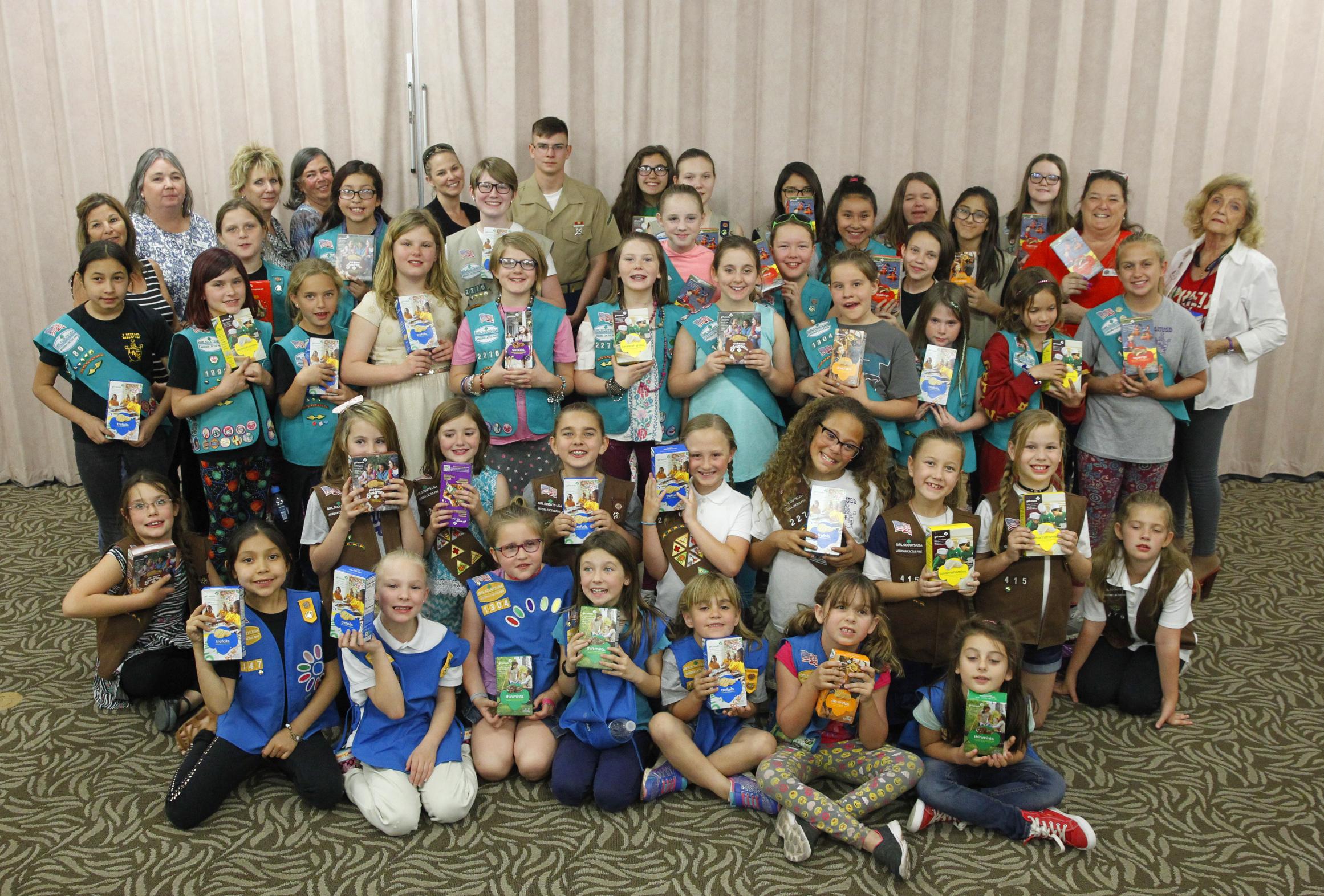 Lake Havasu Girl Scouts Donate To Military Moms