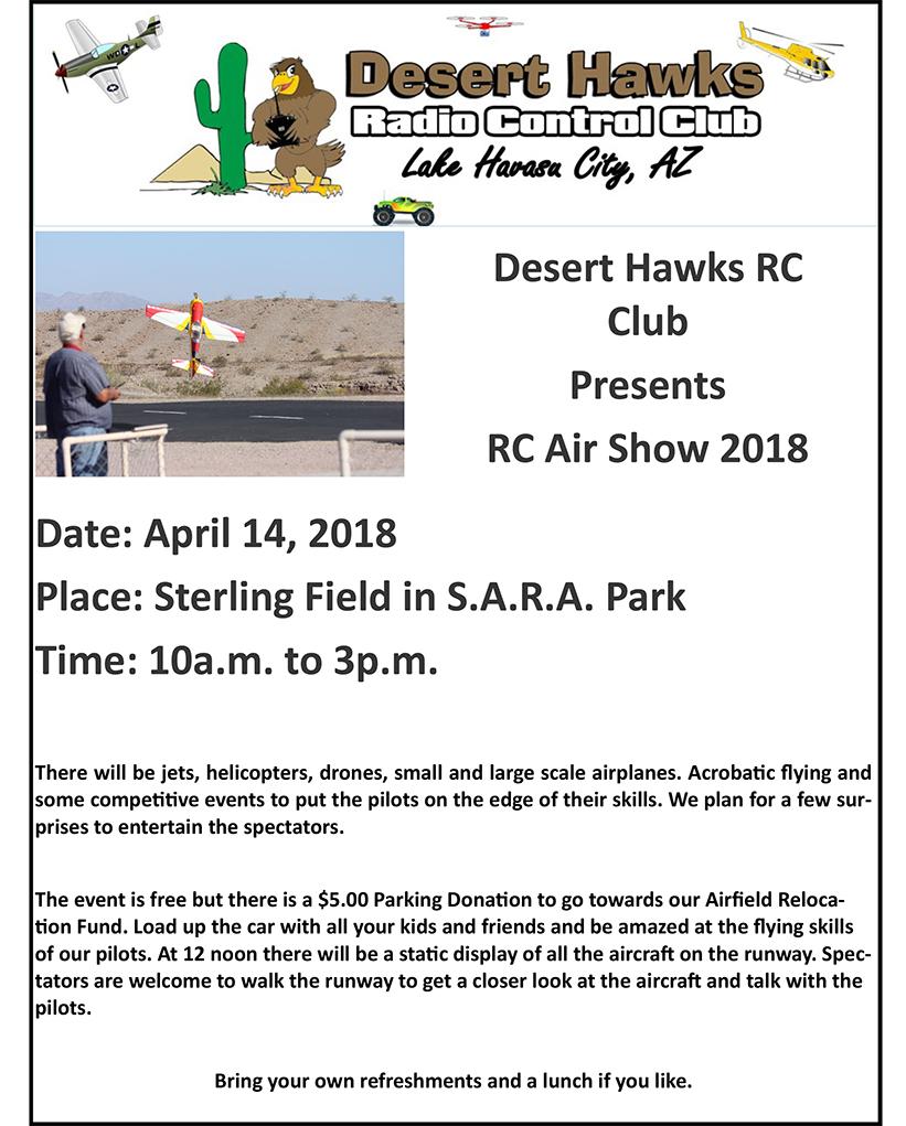 Desert Hawks RC Club Air Show