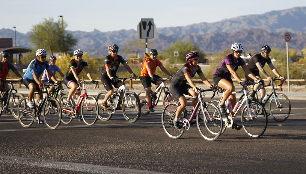 Cyclists Participate In Share The Road