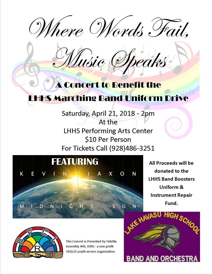 Concert Set To Benefit LHHS Band And Color Guard