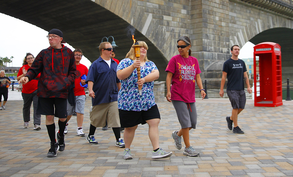 Law Enforcement Torch Run For Special Athletes Kicks Off Summer Games