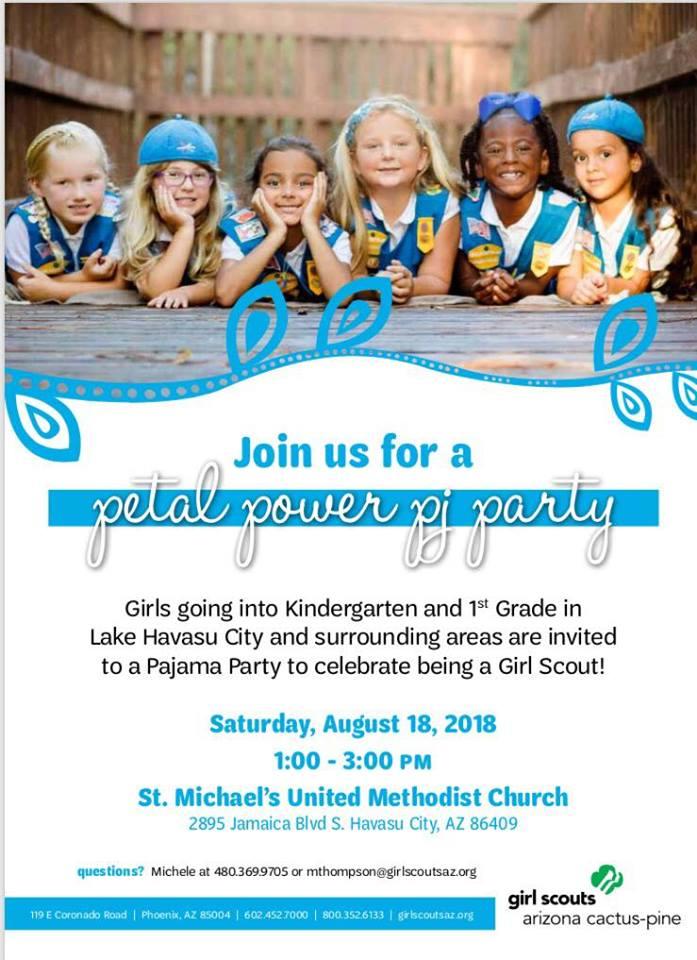 Girl Scouts Petal Power PJ Party