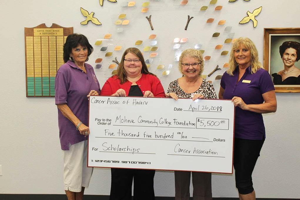 Cancer Association Donates $5,500 For MCC Nursing Scholorship