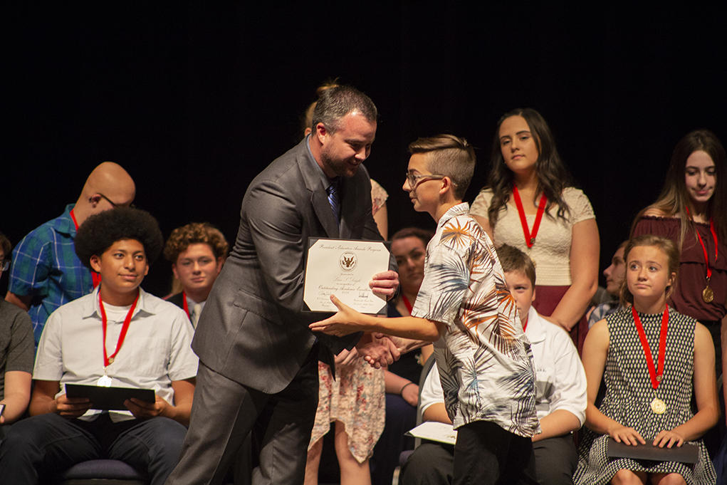 Thunderbolt Middle School Students Receive Awards Wednesday Evening