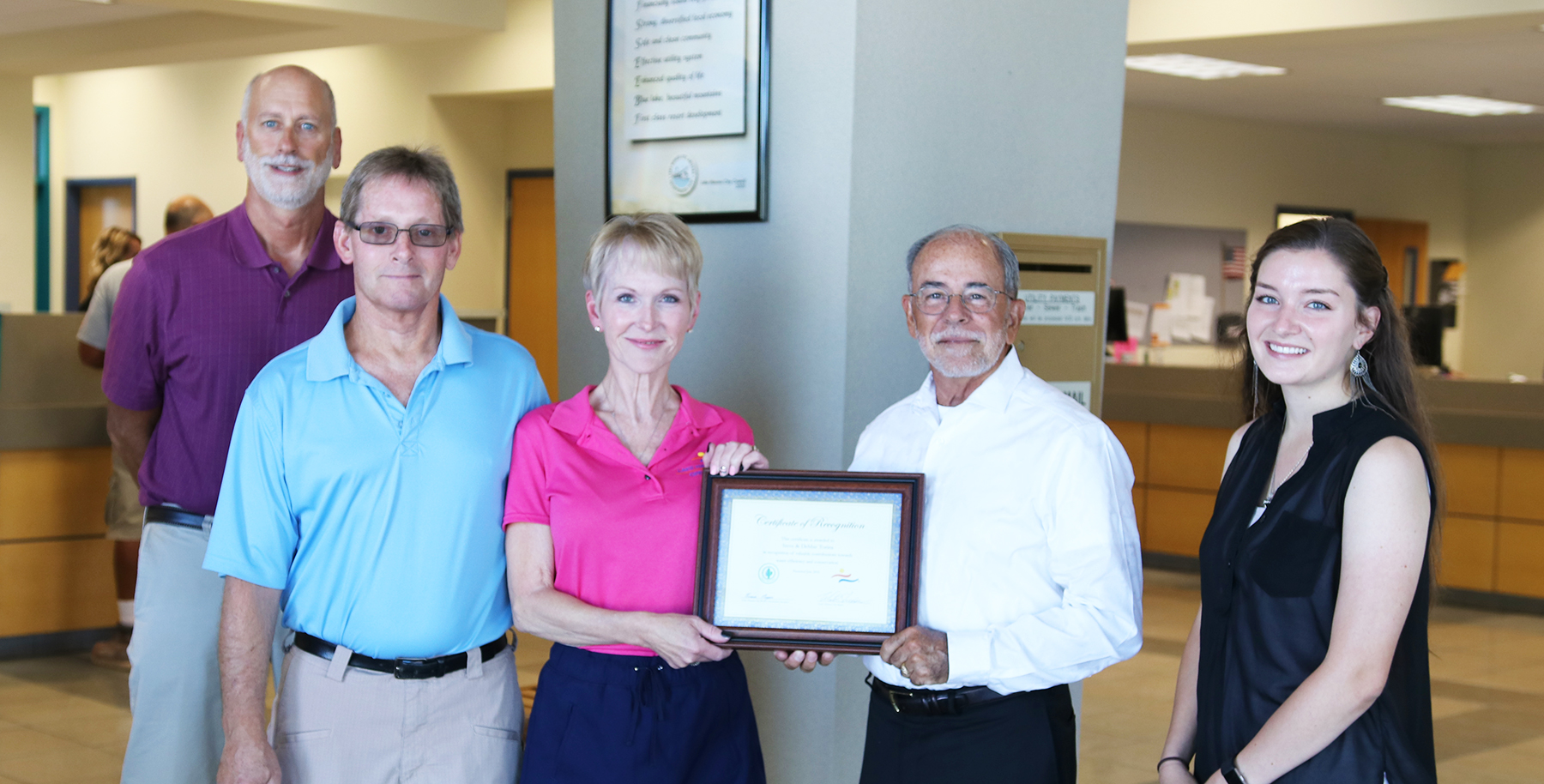 Mayor Recognizes Local Residents For Water Conservation Efforts