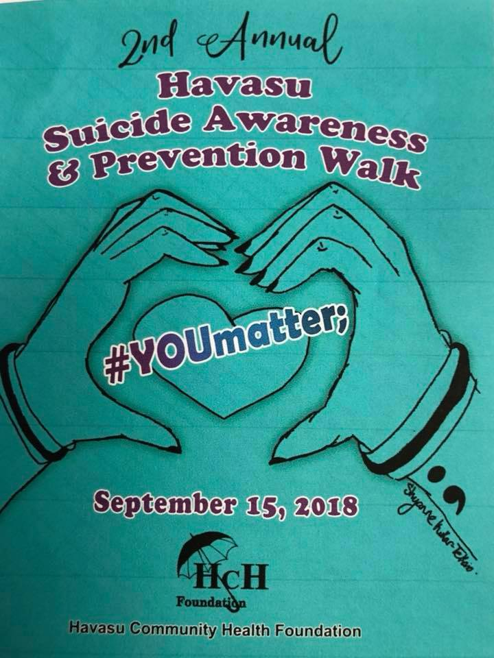 #YOUmatter; 2nd Annual walk to promote Mental Health Awareness  and Suicide Prevention     Rotary PARK