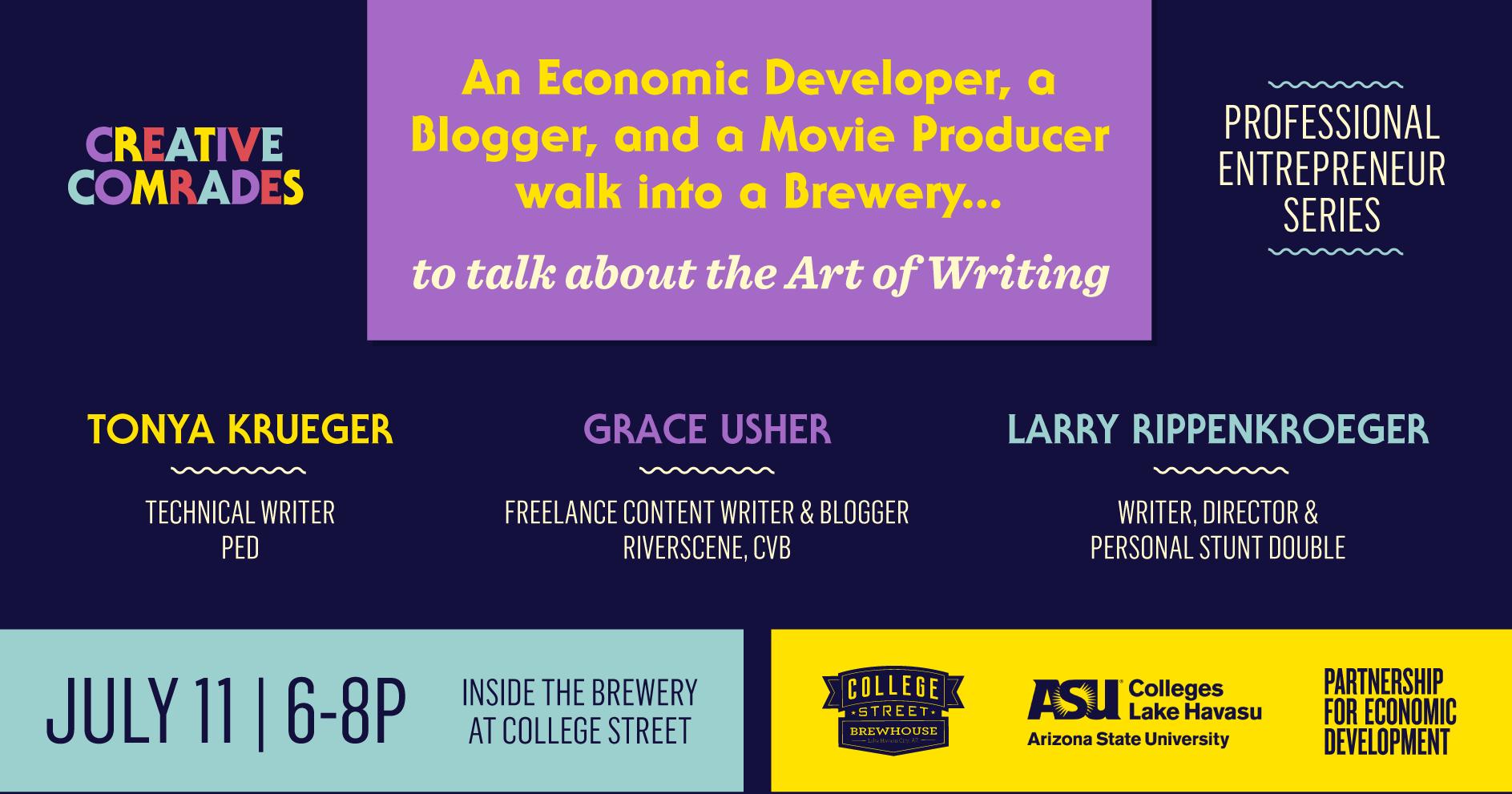 Creative Comrades July | The Art of Writing