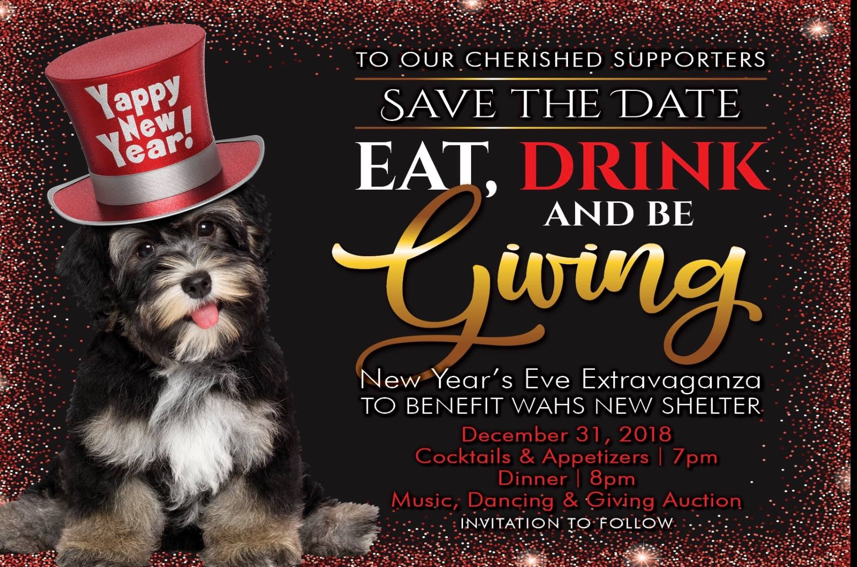 WAHS Building Campaign New Year's Eve Extravaganza