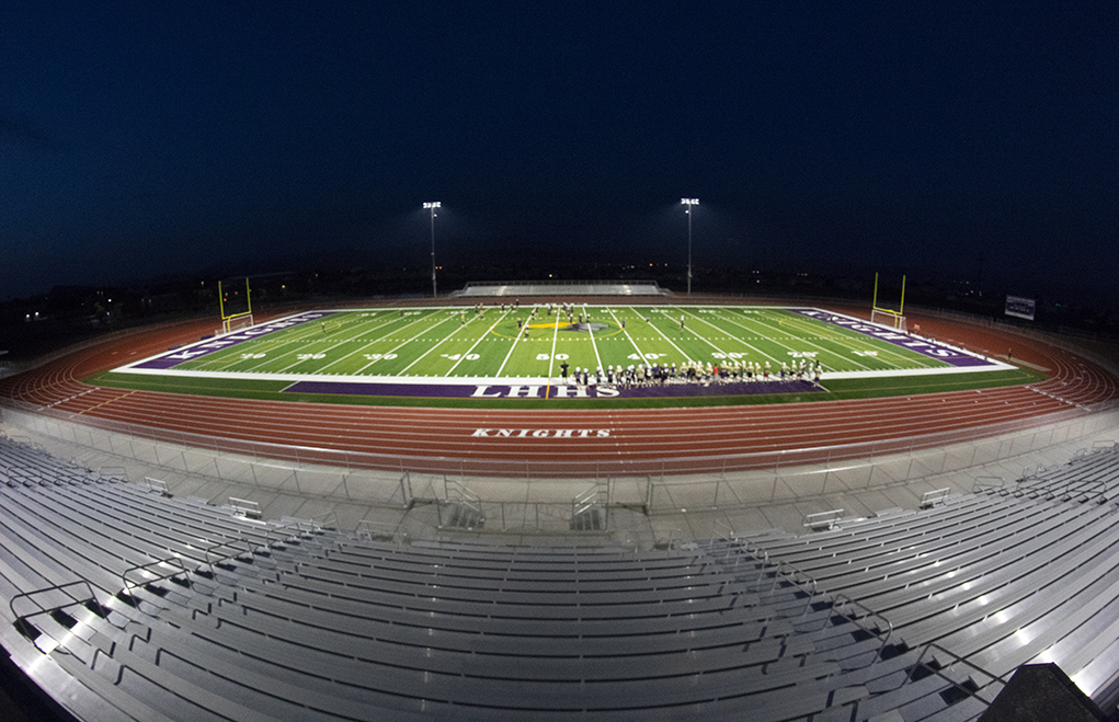 LHHS Football Players Practice In New Stadium For First Time