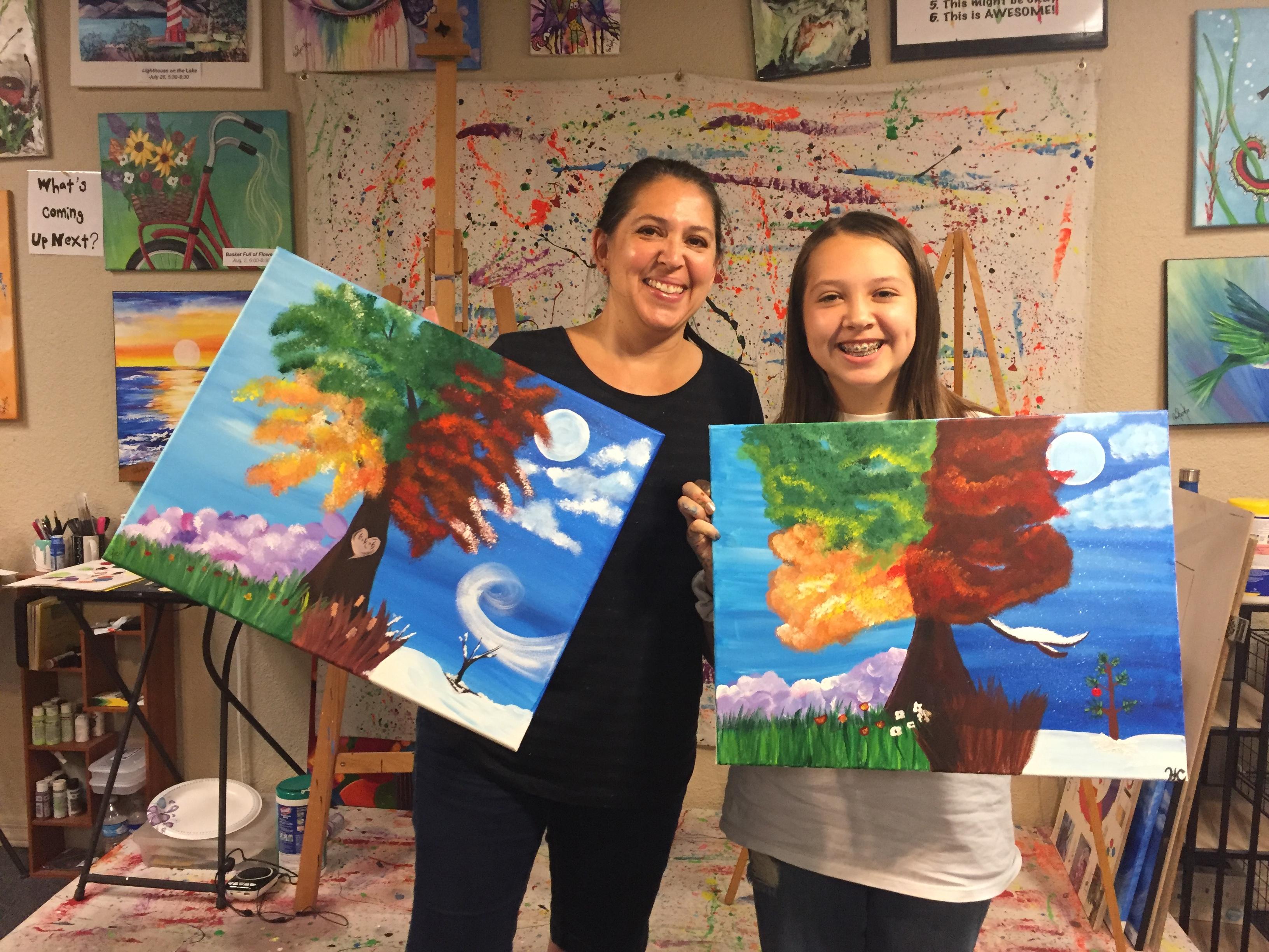 4 Seasons Tree Paint Class