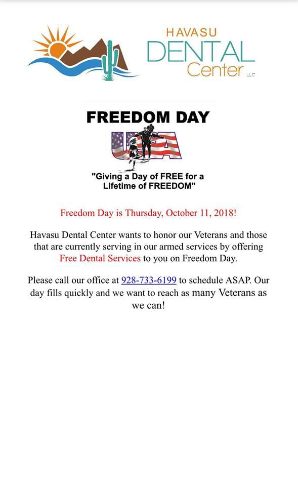 Havasu Dental Center Freedom Day