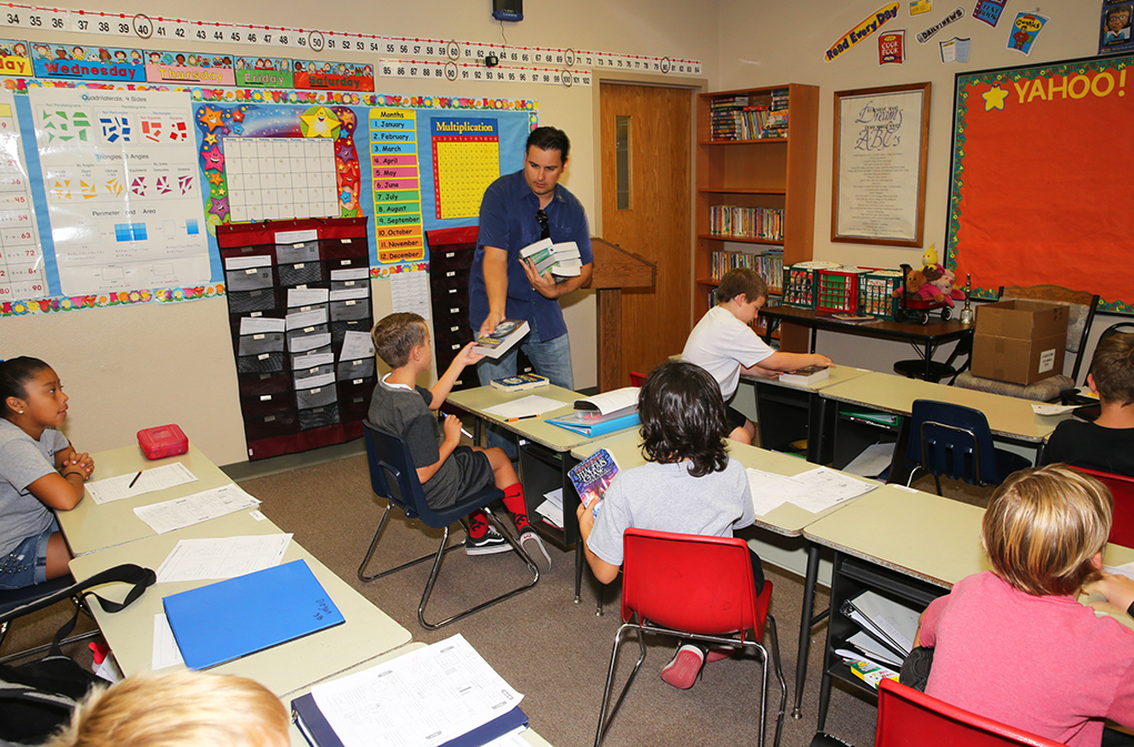 Rotary Gives The Gift Of Spelling And Word Definition To Area Third-Graders