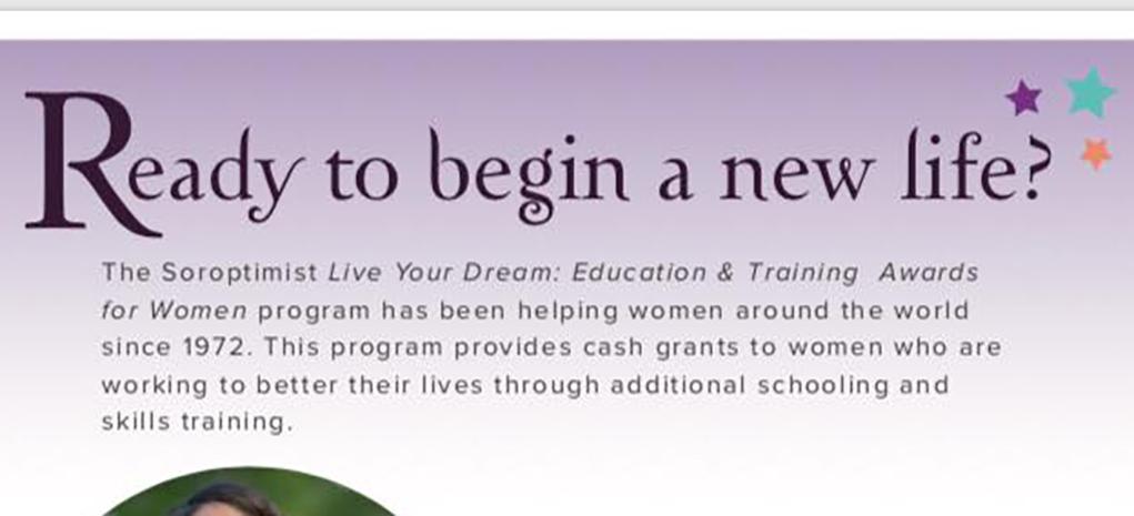 Soroptimists Offer Education Grants To Women
