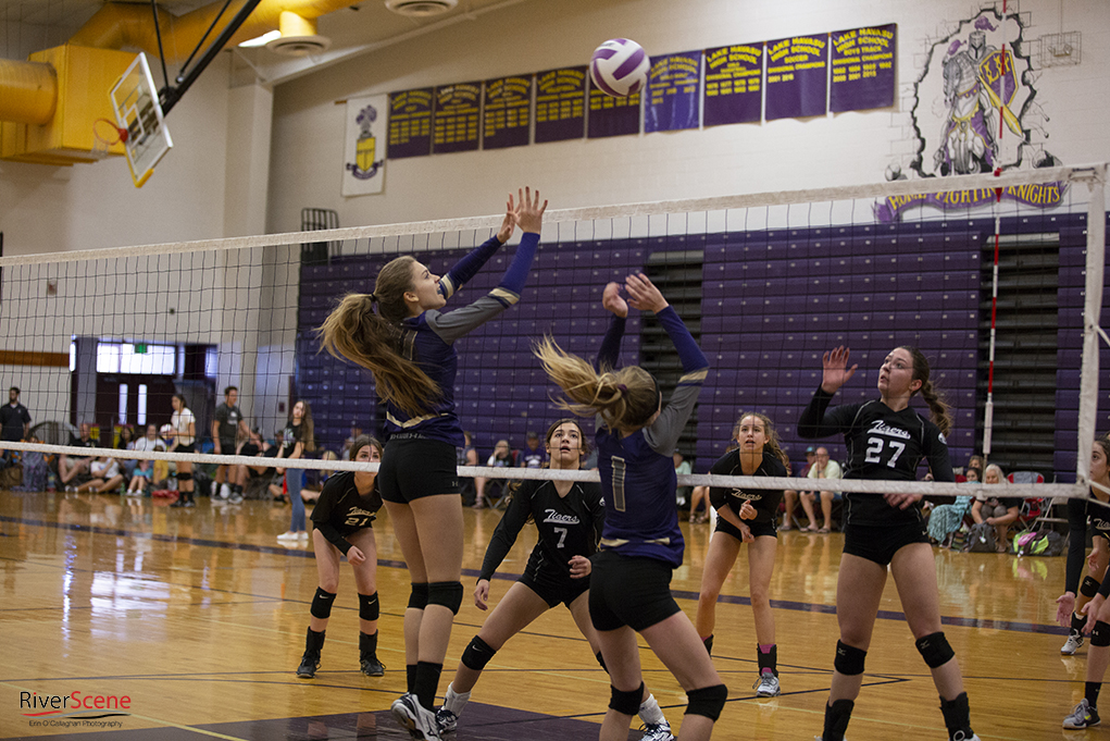 Knights Varsity Volleyball Team Comes Up Big In Mary Jo Goldey Tournament