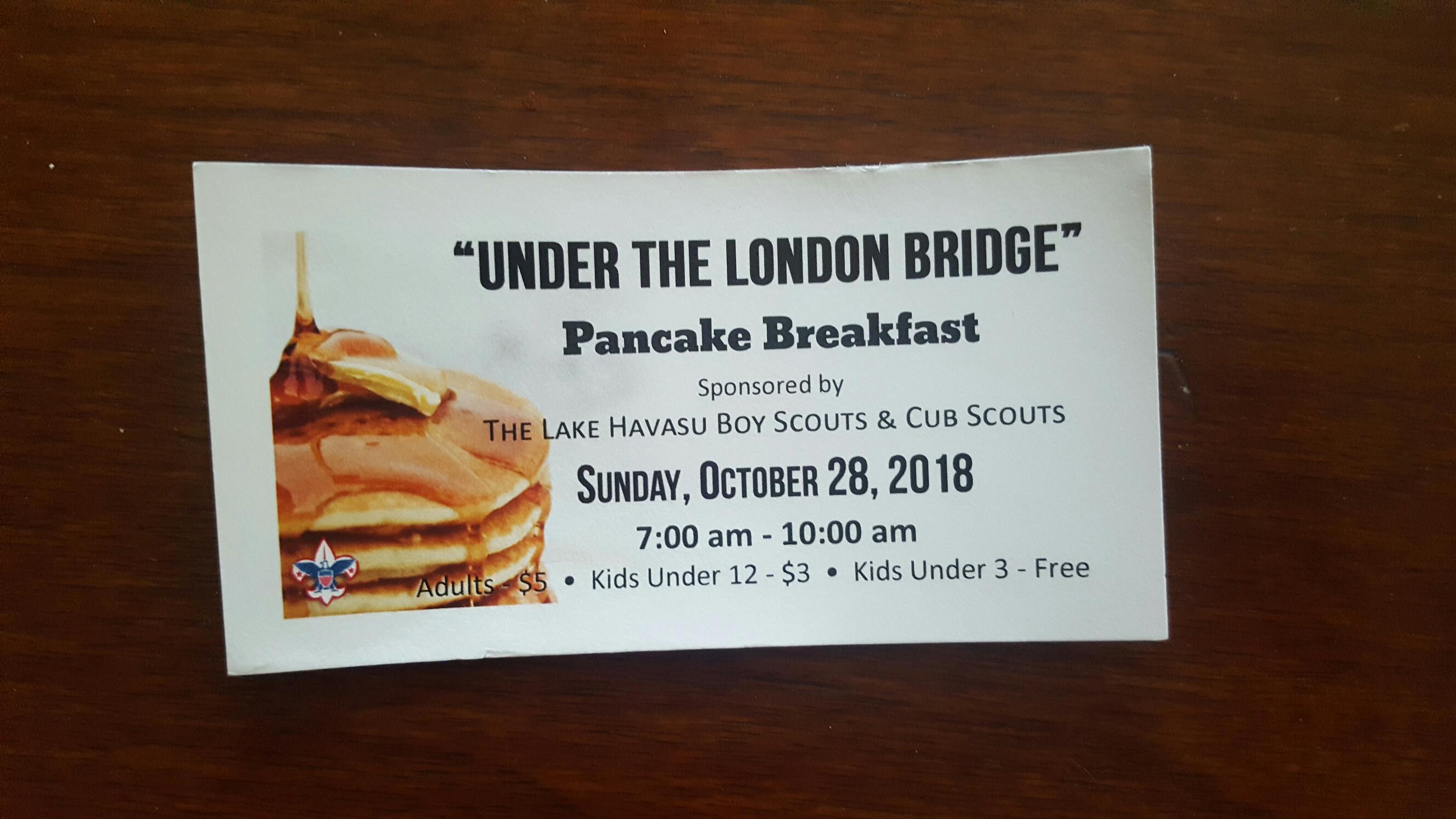 """Pancake Breakfast Under the Bridge"""