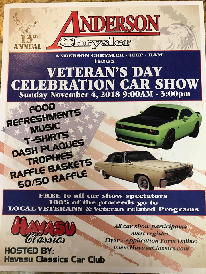Veterans Day Celebration Car Show