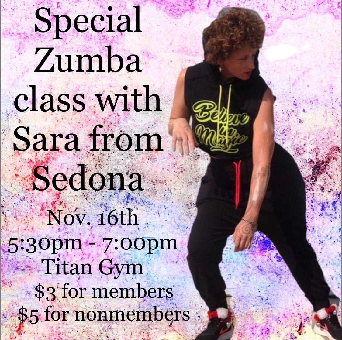 Special Zumba with Sara Woolsey