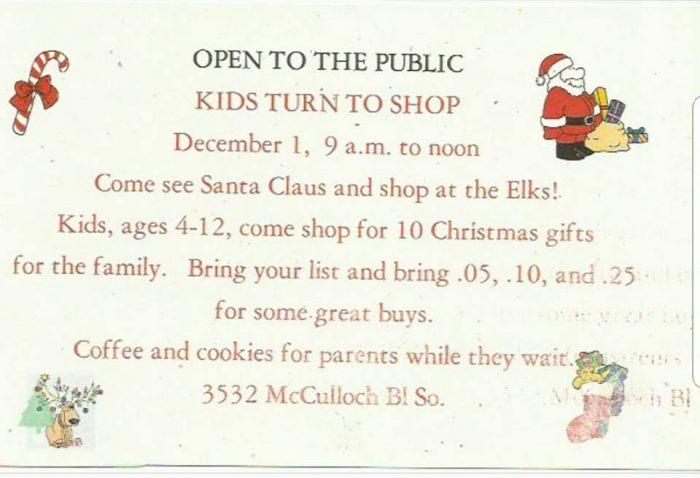 Elks Lodge Kids Turn To Shop