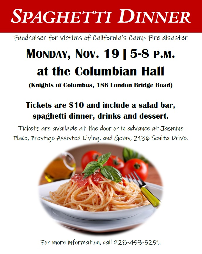 Spaghetti Benefit Dinner