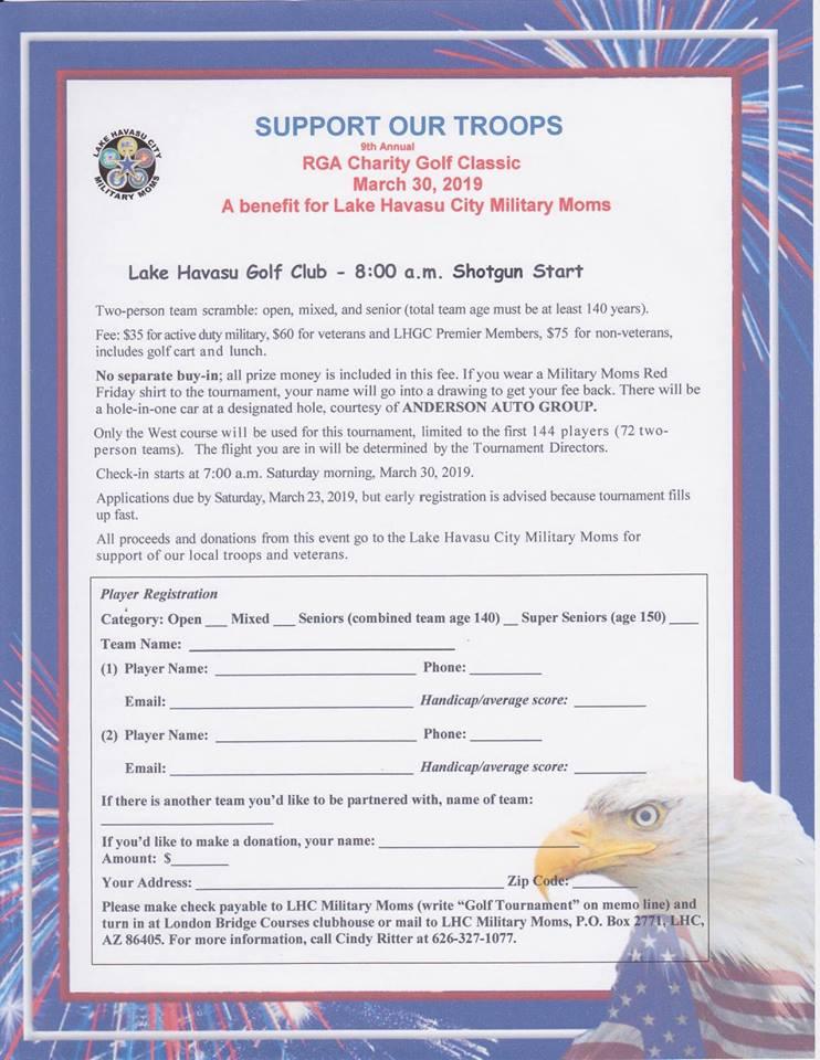 Lake Havasu City Military Moms 9th Annual Charity Golf Tournament
