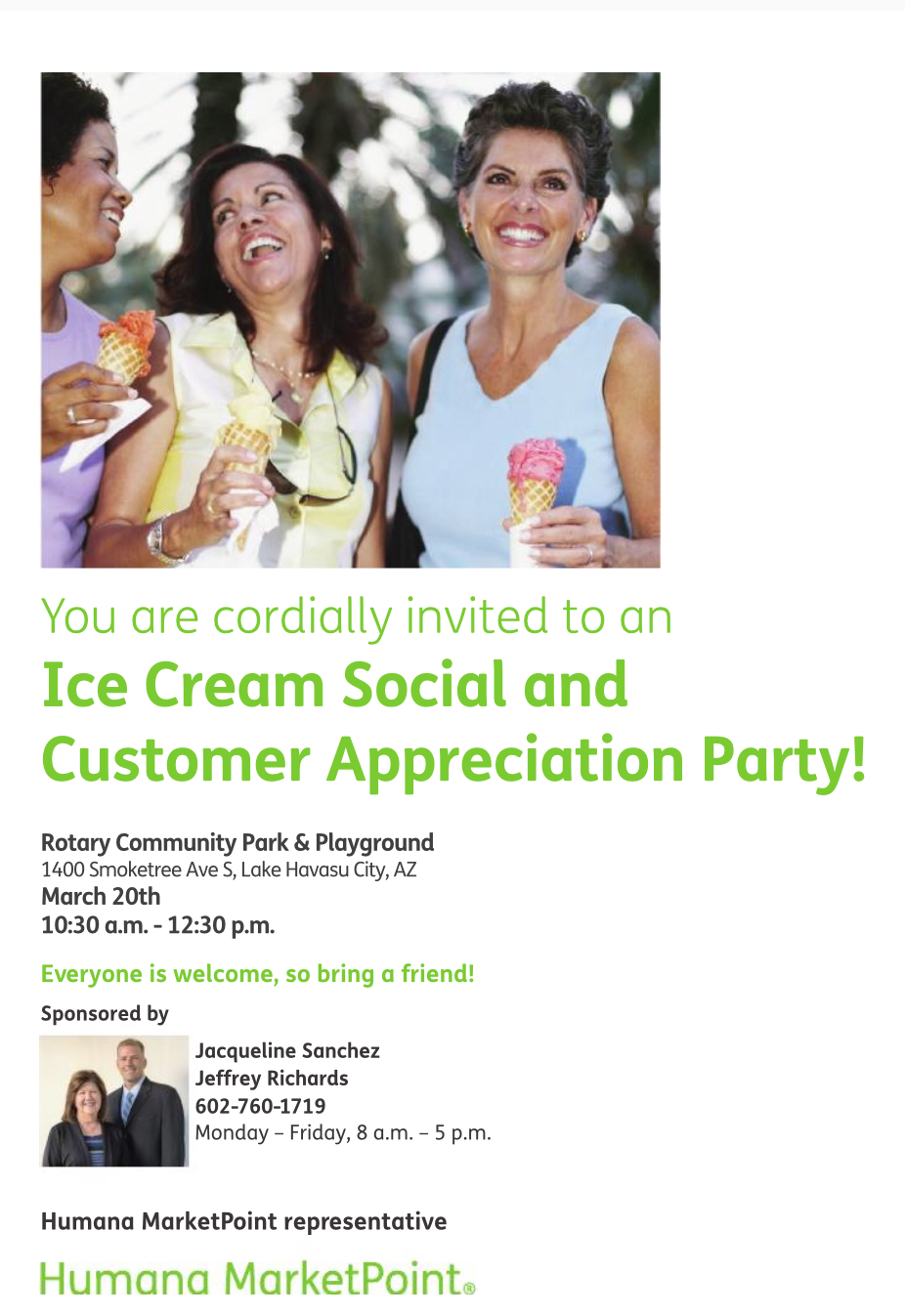Ice Cream Social and Customers Appreciation Party!